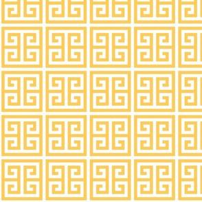 Geometric Pattern: Key Bridge: Yellow