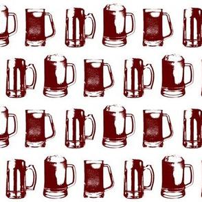 Burgundy Beer Mugs // Small