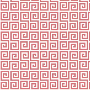 Geometric Pattern: Key Serpentine: Red