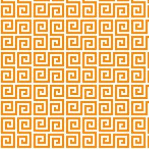 Geometric Pattern: Key Serpentine: Orange