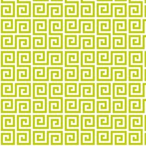 Geometric Pattern: Key Serpentine: Green