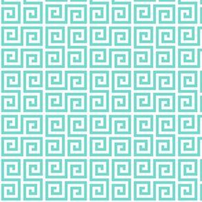Geometric Pattern: Key Serpentine: Blue