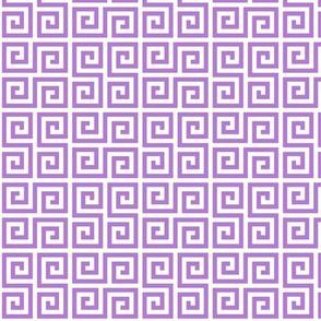 Geometric Pattern: Key Serpentine: Purple