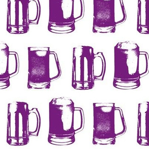 Purple Beer Mugs // Large