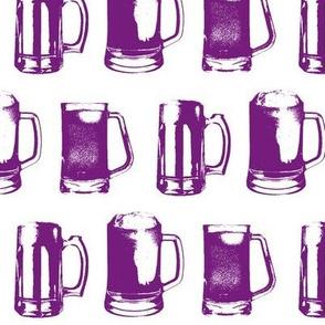 Purple Beer Mugs // Large