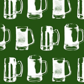 Beer Mugs // Emerald // Large