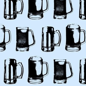Beer Mugs // Light Blue // Large