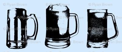 Beer Mugs // Light Blue // Small