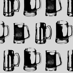 Beer Mugs // Light Grey // Large