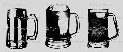 Beer Mugs // Light Grey // Small