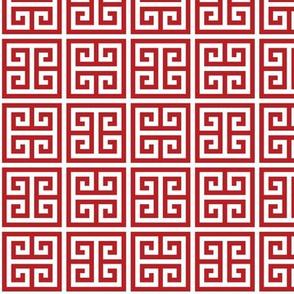 Geometric Pattern: Key Bridge Alternate: Red