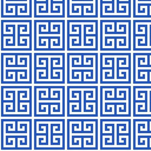 Geometric Pattern: Key Bridge Alternate: Blue