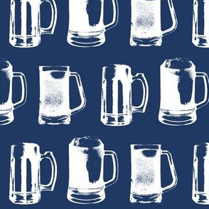 Beer Mugs // Navy // Large