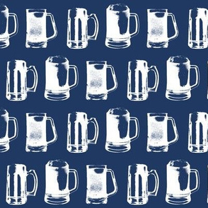 Beer Mugs // Navy // Small