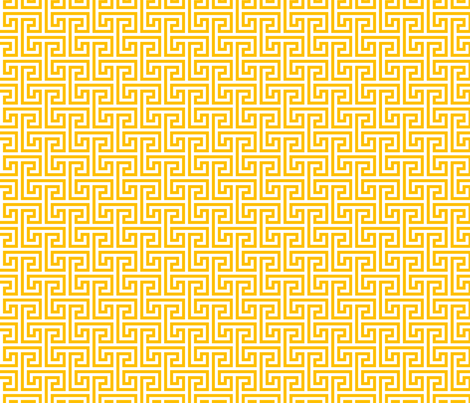 Geometric Pattern: Key Bridge Interlock Negative: Yellow fabric by red_wolf on Spoonflower - custom fabric