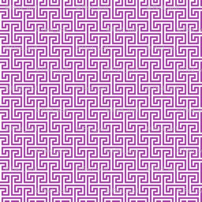 Geometric Pattern: Key Bridge Interlock Negative: Purple