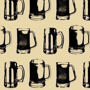 Beer Mugs // Tan // Large