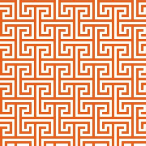 Geometric Pattern: Key Bridge Interlock Positive: Orange