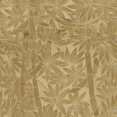 Hawaiian Bamboo in Sand to Clay Monochrome Colors