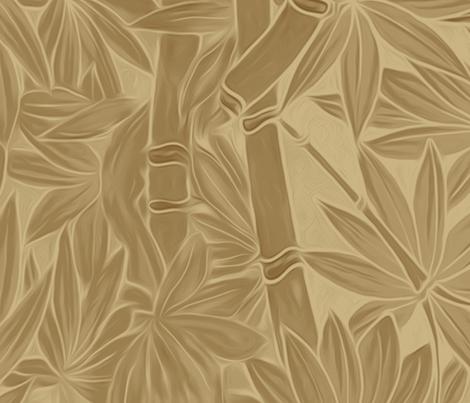 Hawaiian Bamboo in Sand to Clay Monochrome Colors fabric by kedoki on Spoonflower - custom fabric