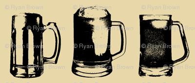 Beer Mugs // Tan // Small