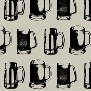 Beer Mugs // Light Taupe // Large