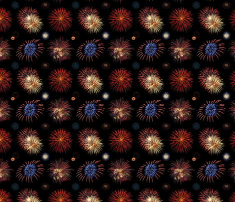 fireworks big fabric by doogie_ on Spoonflower - custom fabric