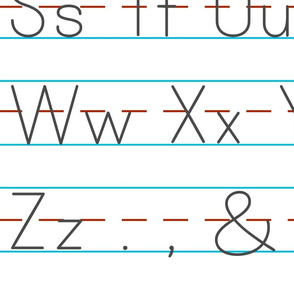 Printing Handwriting O-Z