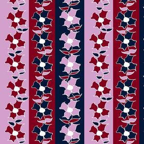 Floral stripe - Orchid & Navy Ltd Palette