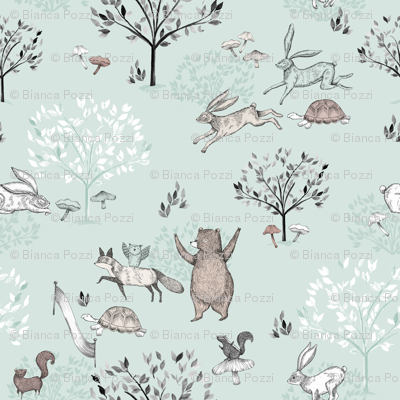 Mint The Tortoise and The Hare / Aesop's Fable / Woodland Nursery