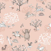 Dusty Rose The Tortoise and The Hare / Aesop's Fable / Woodland Nursery