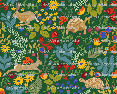 Tortoise and Hare RepeatSpoonflower
