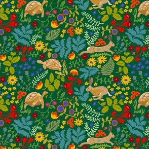 Tortoise and Hare RepeatSpoonflower