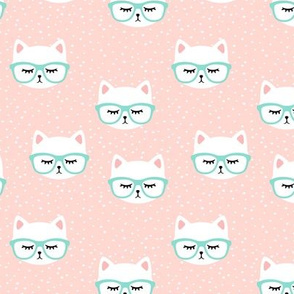 cat with glasses - rose