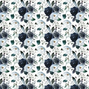 "4.5"" Boho Navy Peony Florals"