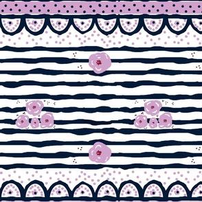purple passion ribbon  fancy - LARGE 105