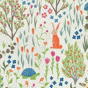 Spring  Garden - Tortoise and Hare