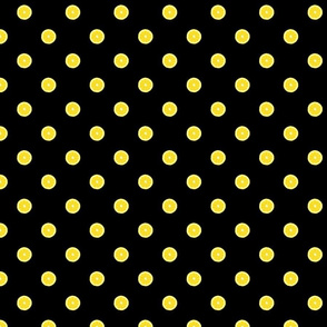 Lemon Polka Dot on Black