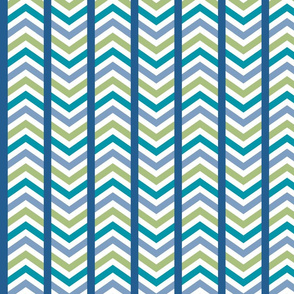 Comfy Striped Chevron Blue Green