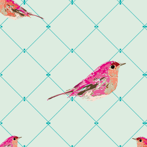 Bella Bird fabric by lillaskatt on Spoonflower - custom fabric