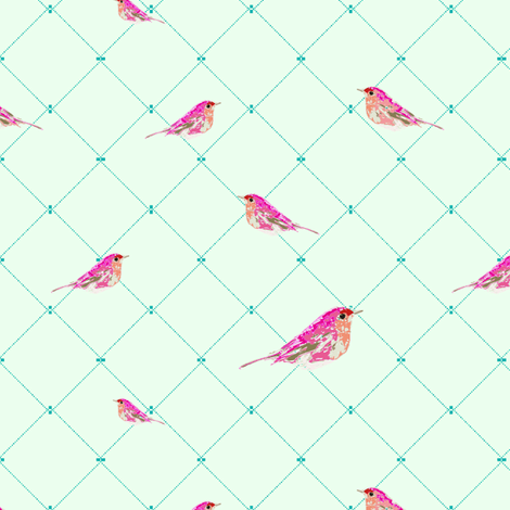 Bella Bird fabric by lillaskatt on Spoonflower - custom fabric