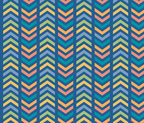 Comfy Striped Chevron Colorful fabric by lisanorrisartworks on Spoonflower - custom fabric
