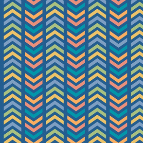 Comfy Striped Chevron Colorful
