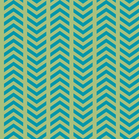 Comfy Striped Chevron Green Teal fabric by lisanorrisartworks on Spoonflower - custom fabric