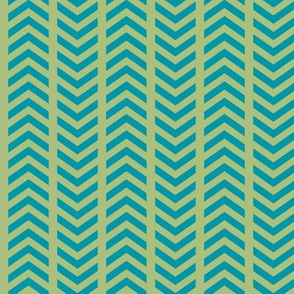 Comfy Striped Chevron Green Teal