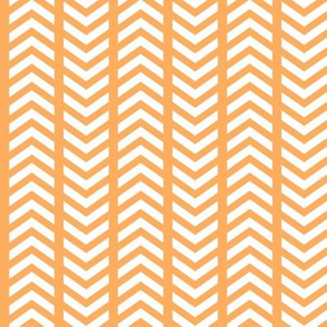 Comfy Striped Chevron Orange White