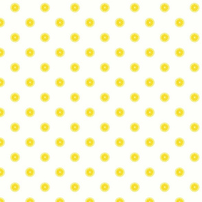 Lemon Polka Dot on White