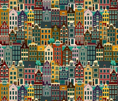 Amsterdam, retro colors fabric by yulia on Spoonflower - custom fabric