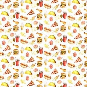 "1.5"" Junk Food Watercolor // White"