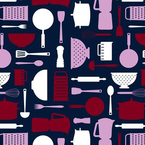 kitchen tools - navy